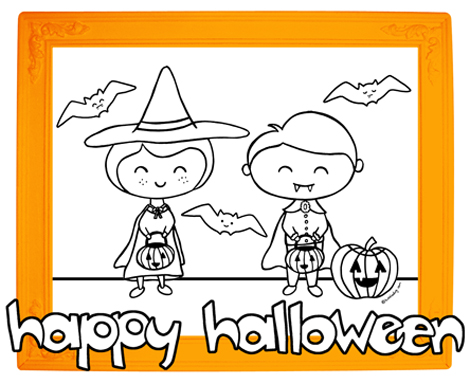HALLOWEEEN COLORING SHEET to download copy