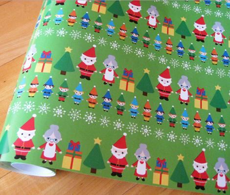 Elf christmas wrap