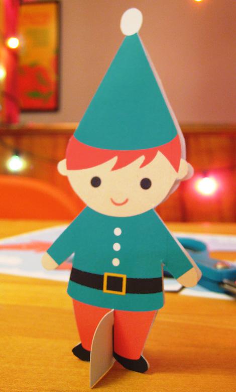 Elf card standing