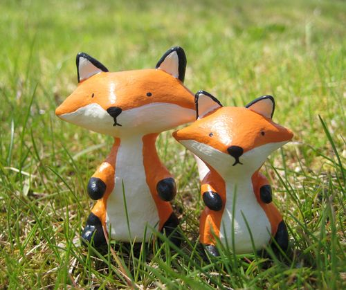 Bubbledog clay foxes
