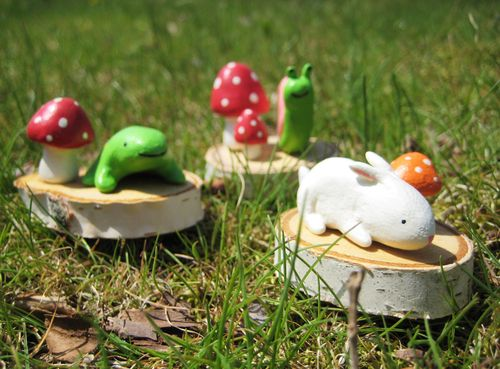 Bubbledog clay woodland critters
