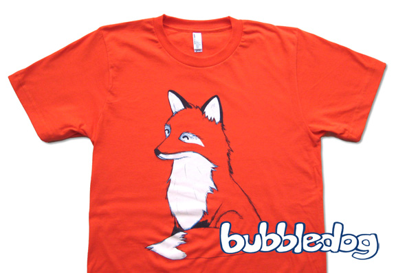 Bubbledog fox shirt