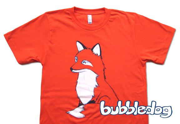 Bubbledog fox shirt