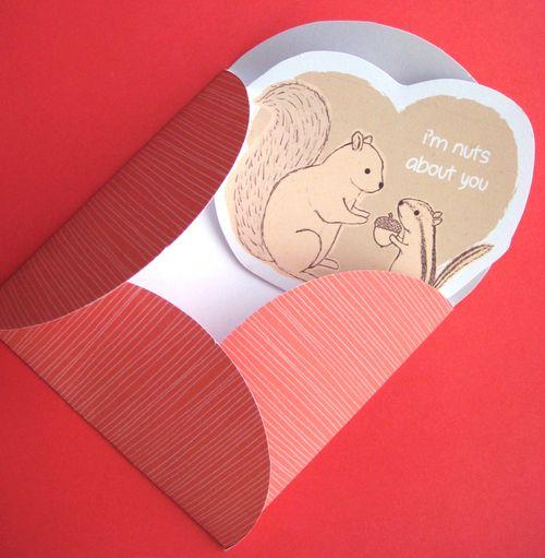 2014 valentines card in envelope diecut