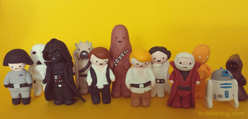 Bubbledog star wars clay figures