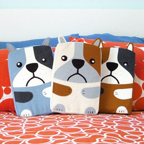 CB bulldog pillow