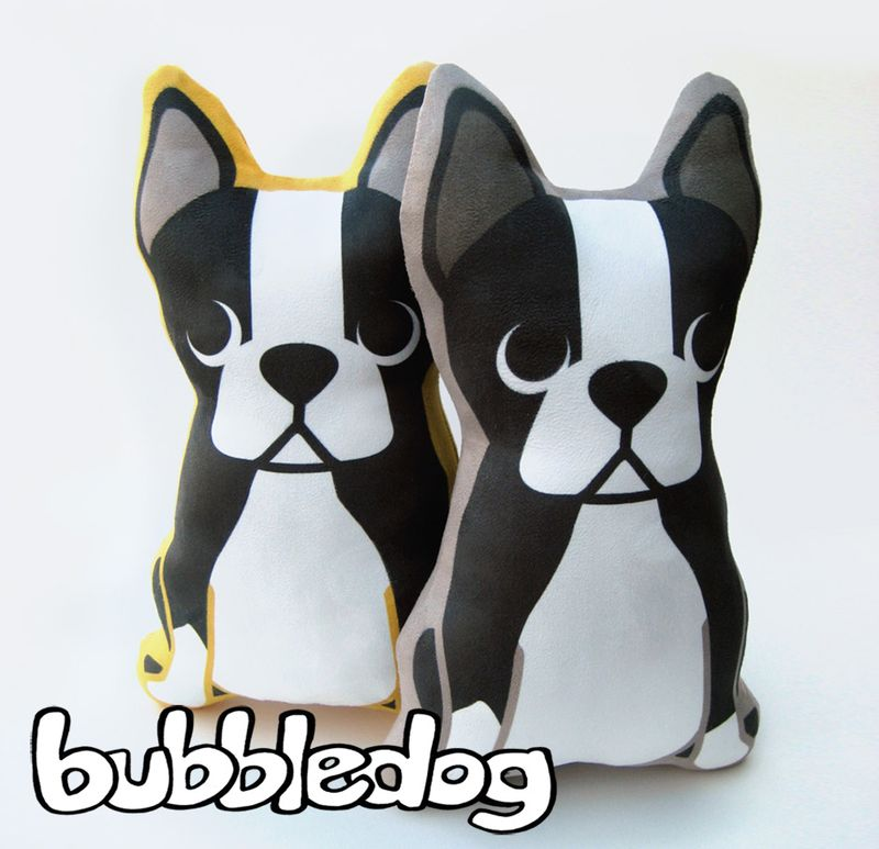 Bubbledog boston terrier pillows