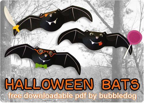Bubbledog halloween bats