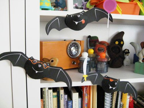 Bubbledog halloween bats on shelf